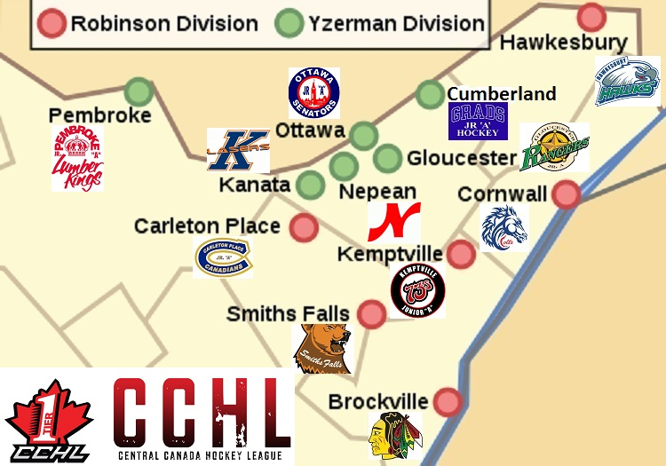 Cchl Geography Cchl Central Canada Hockey League
